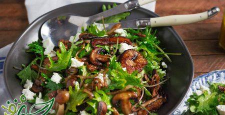 طرز-تهیه-انواع-سالاد-قارچ-و-سبزیجات
